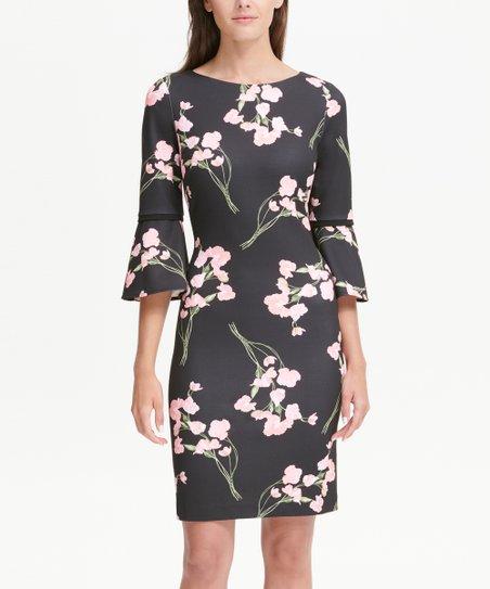 tommy hilfiger pink and black dress