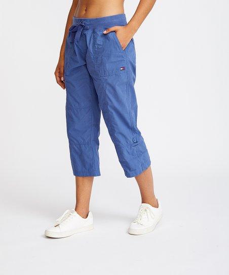 7e8fcb591b Tommy Hilfiger Bijou Blue Crop Cargo Pants - Women | Zulily