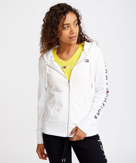 7a409c8e Tommy Hilfiger White French Terry Zip-Up Hoodie - Women | Zulily