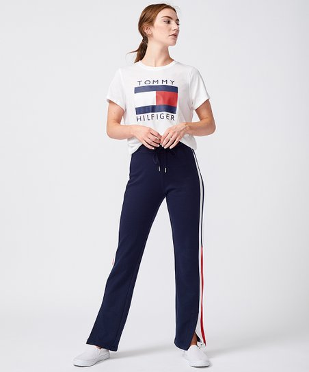 779f7048 Tommy Hilfiger Navy Side-Slit French Terry Track Pants - Women | Zulily