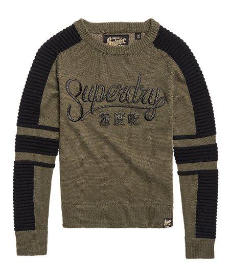 d7667f93c7b Superdry Army Khaki Superdry Rock Sweater - Women
