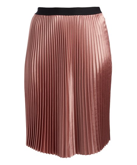 5b7ea89774 love this product Pink Pleated A-Line Skirt - Plus