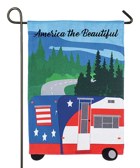 Blue Red America The Beautiful Camper Outdoor Flag Zulily