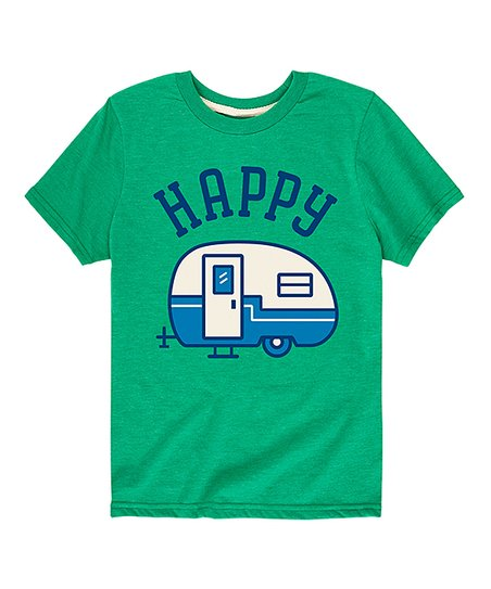 40de70e6849d5 Instant Message Kelly Green Happy Camper Tee - Toddler & Kids | Zulily
