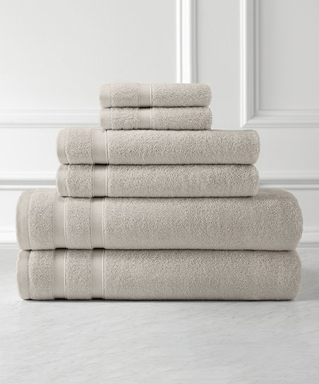Southshore Fine Linens Warm Sand Six Piece Combed Cotton Bath Towel
