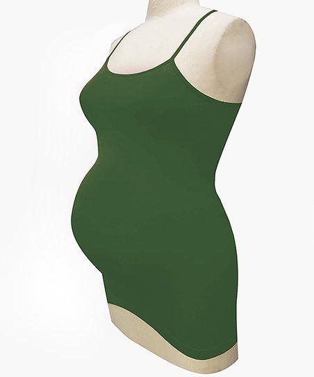 44e0ca385315a Bun Maternity Green Seamless Maternity Tank | Zulily