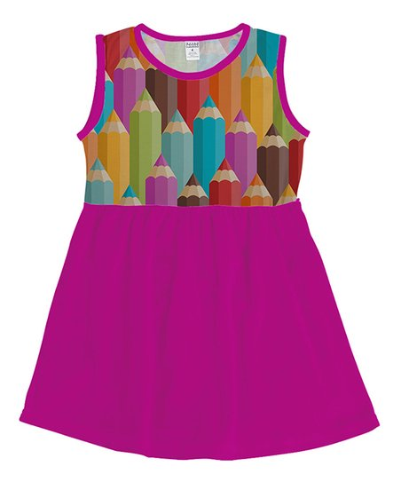 2b7ace2ad7d love this product Fuchsia Colored Pencil Tank Dress - Toddler & Girls