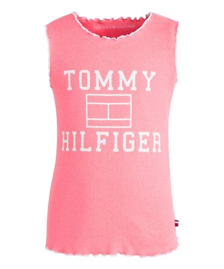 91abf79bc Tommy Hilfiger Diva Pink Flag Tank - Girls   Zulily