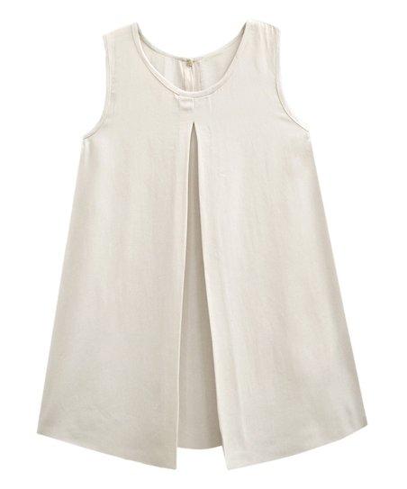 8e96840a A.T.U.N. Ivory Sleeveless Pleated Swing Top - Women & Plus | Zulily