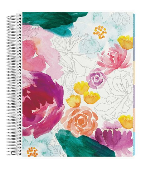 Love This Product Pink Green Watercolor Fl 12 Month 2019 Deluxe Planner