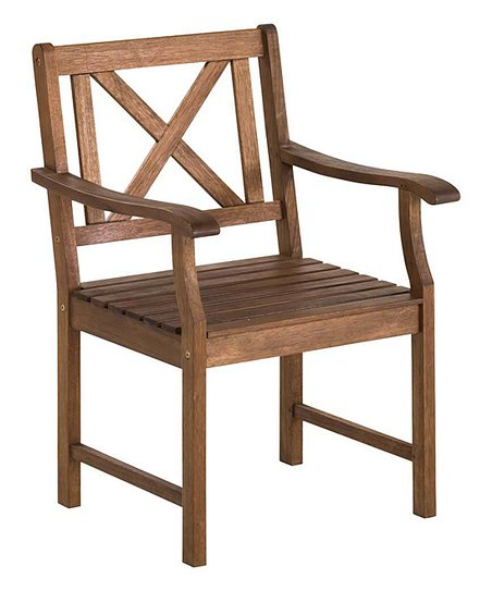 Excellent Plow Hearth Brown X Back Outdoor Dining Chair Machost Co Dining Chair Design Ideas Machostcouk