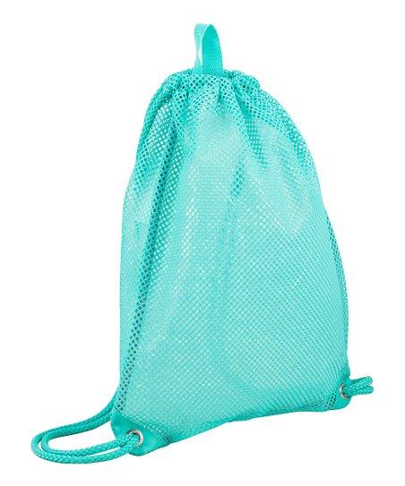 fef224444645 Eastsport Turquoise Large Mesh Cinch Sack