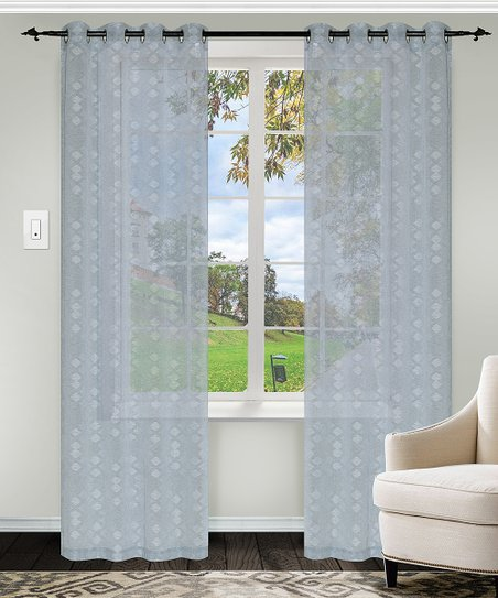 Pleasant Home City Stone Blue Lenglen Sheer Curtain Panel Set Of Gamerscity Chair Design For Home Gamerscityorg