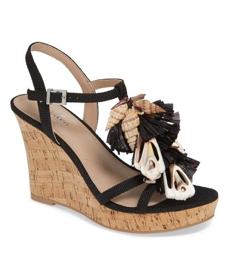 b1e2915bb Charles by Charles David Black Seashell Lajolla Wedge Sandal - Women ...