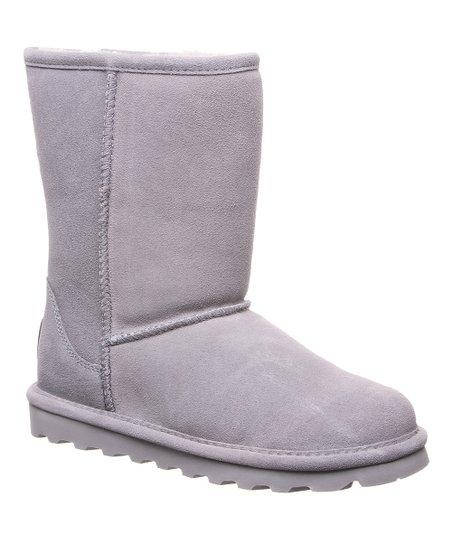 BEARPAW Gray Fog Elle Short Suede Boot