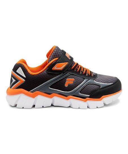 FILA Black & Orange Focalspeed Sneaker Boys