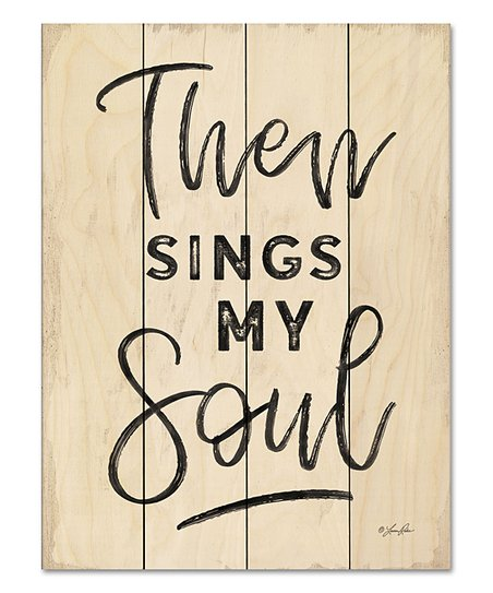 Wooden Creek Essentials 'Then Sings My Soul' Wood Pallet Wall Art