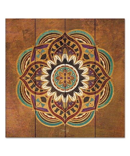 Wooden Creek Essentials 12 X 12 Boho Medallion Ii Wood Pallet Wall Art