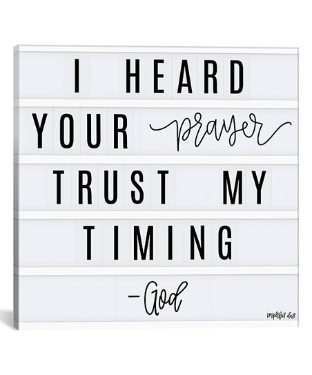 Penny Lane Publishing Imperfect Dust 'Trust My Timing' Wrapped Canvas