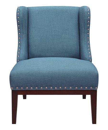Pleasing Pulaski Teal Upholstered Wingback Accent Chair Creativecarmelina Interior Chair Design Creativecarmelinacom