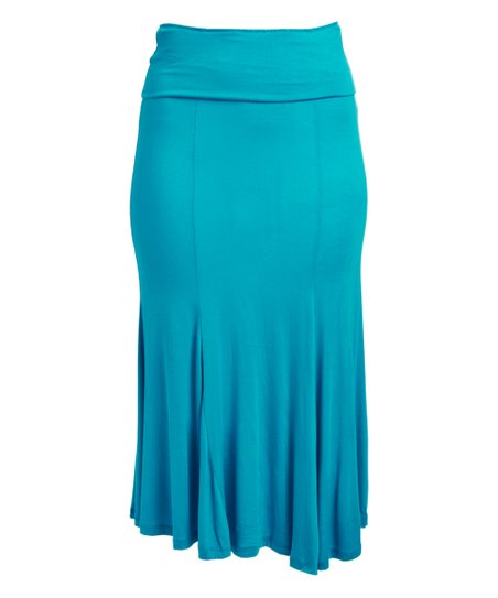 ef87cbbae Poliana Plus Aqua Maxi Skirt - Women & Plus   Zulily