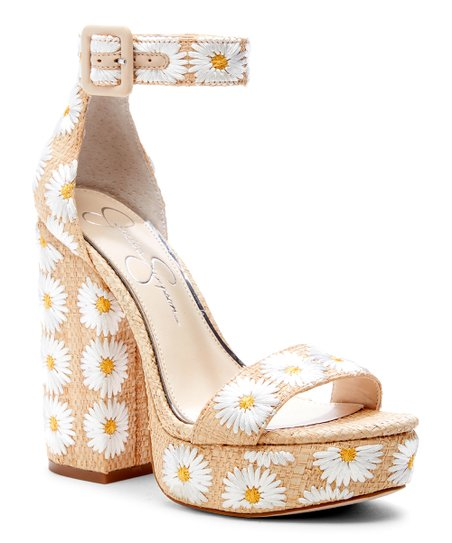 eae3b41f8a6b Jessica Simpson Collection Tan Floral Caiya Platform Pump - Women ...