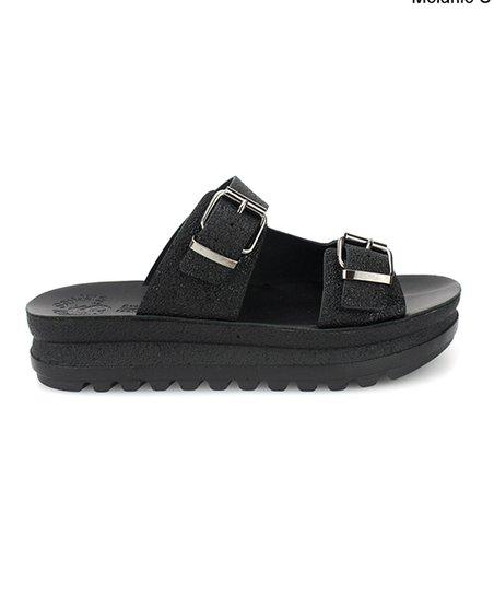 Fantasy Sandals Black Melanie Leather
