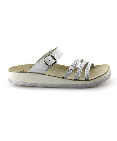Fantasy Sandals Silver Lola Leather