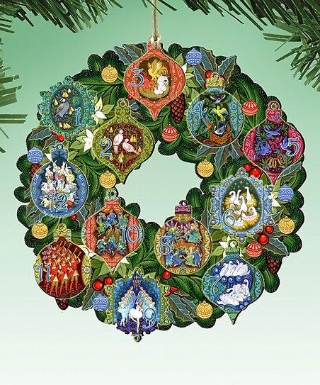Twelve Days Of Christmas Ornaments.G Debrekht Twelve Days Of Christmas Ornament Set Of Two