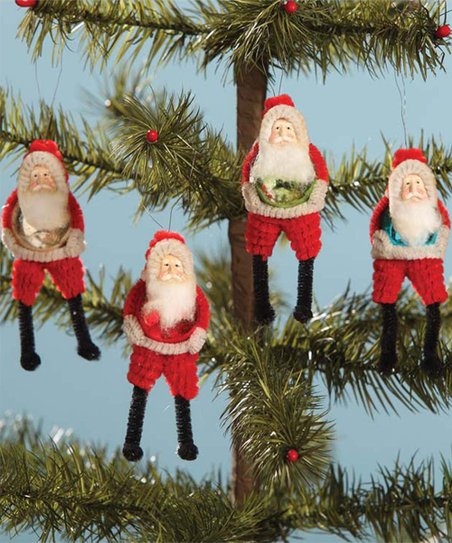 Bethany Lowe Christmas Ornaments.Bethany Lowe Designs Santa Belly Ornament Set Of Four
