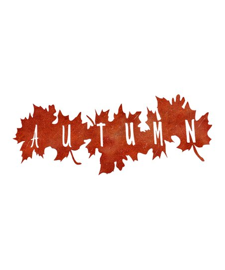 White Barn Décor Steel Autumn Leaves Cut Out Wall Sign
