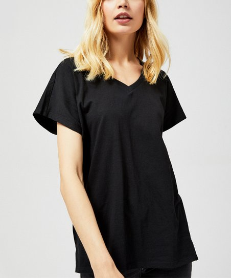 22d2729ede26 love this product Black V-Neck Tee - Women