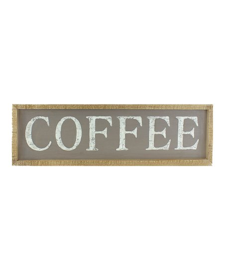 Honey And Me Gray Coffee Large Horizontal Wood Wall Sign