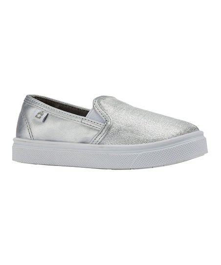 6d9a6d2aa0cd love this product Silver Glitter Madison Slip-On Sneaker - Girls