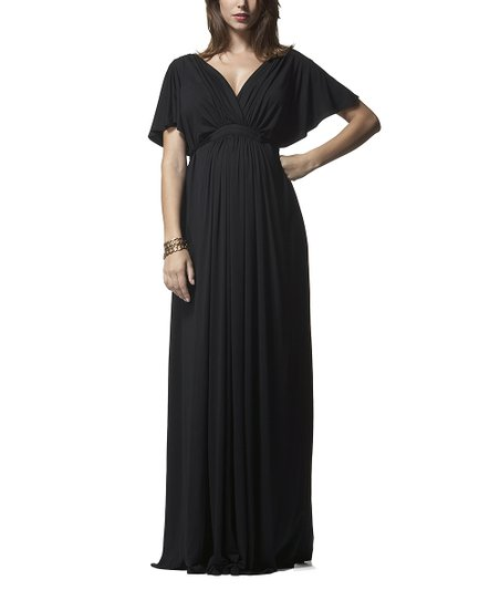 c5d544aa9a7 Isabella Oliver Caviar Black Grecian Maternity Maxi Dress