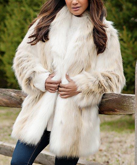 Donna Salyers Fabulous Faux Furs Off, White Fox Fur Coat Collar