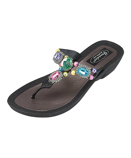 Sandal Embellished Grandco Black WomenZulily Sandals nNPwOX8Z0k