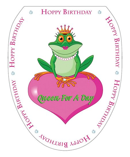 Toilet Tattoos Queen For A Day Toilet Seat Decal Zulily