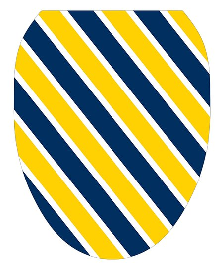 Awe Inspiring Toilet Tattoos Blue Yellow Stripe Toilet Seat Decal Gamerscity Chair Design For Home Gamerscityorg