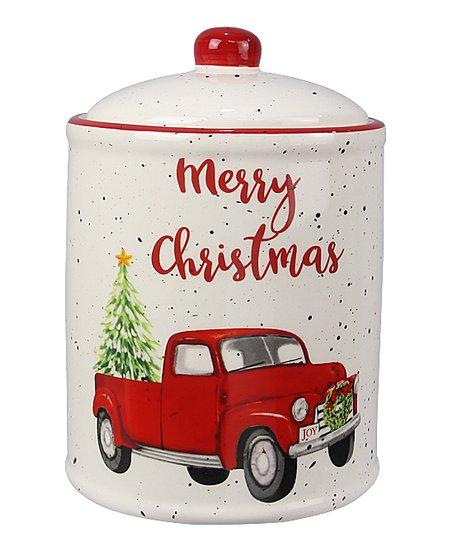 Merry Christmas Truck Cookie Jar Zulily