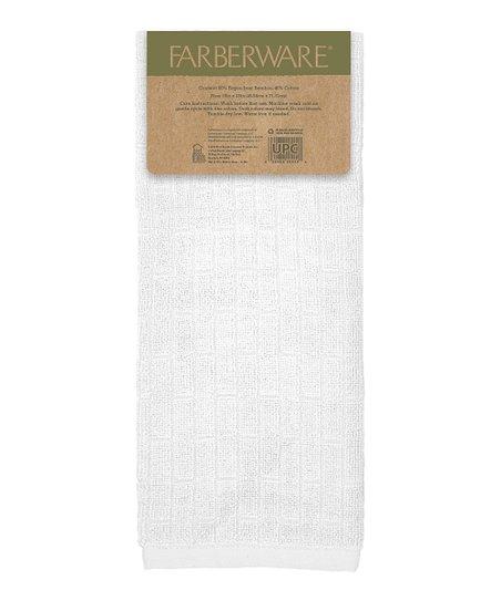 Farberware White Bamboo Kitchen Towel - Set of Two