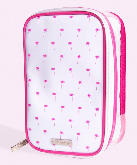 Petite N Pretty Pink Palm Cosmetic Bag Zulily