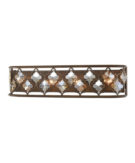 new product 07056 2d206 Artistic Home Weathered Goldtone & Crystal Armand Four-Light Vanity Light