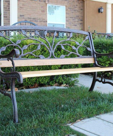 Innova Hearth U0026 Home Aged Bronze Living Tree Cast Iron Garden Bench