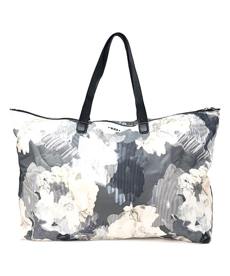 b0a82b0c1 Tumi Gray Floral Just-In-Case Packable Tote | Zulily