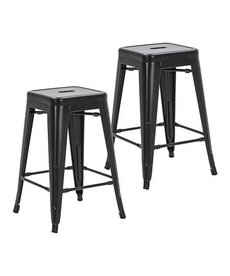 Remarkable Porthos Home Black Metal Stackable Vali Counter Stool Set Uwap Interior Chair Design Uwaporg