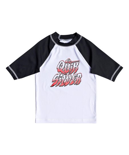 e5de2bae27 Quiksilver White Bubble Dreams Raglan Rashguard - Boys
