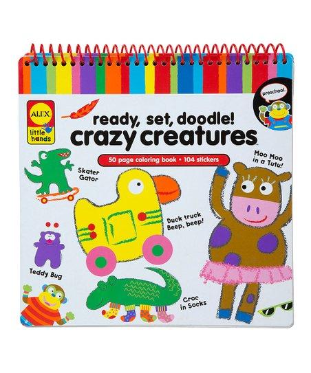 Crazy Creature Ready Set Doodle Kit