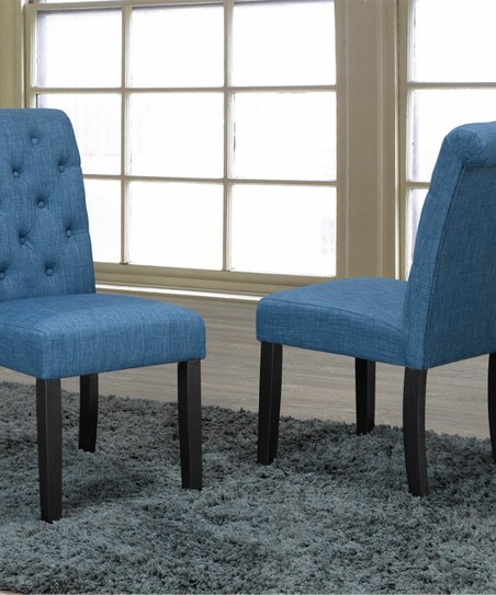 Fine Brassex Blue Soho Tufted Dining Chair Set Of Two Bralicious Painted Fabric Chair Ideas Braliciousco