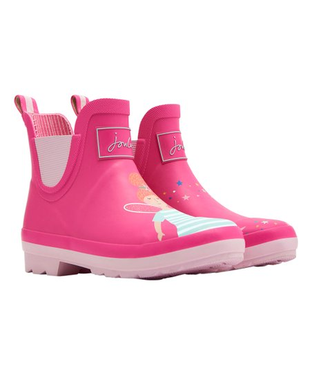 Joules Pink Fairy Short Wellie Rain